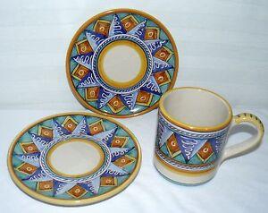 Starbucks 2 Plates Amp 10 Oz Coffee Mug Sberna Deruta Italy