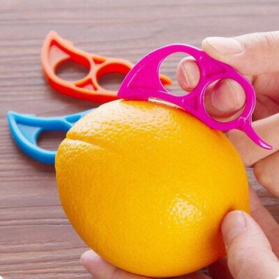 WO/_ JW/_ 6Pcs Lemon Citrus Peeler Plastic Fruit Orange Open Stripper Peeling Tool