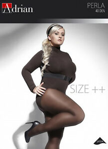 Plus-Size-Microfibre-Semi-Opaque-Tighs-ADRIAN-PERLA-40-Denier-Sizes-L-to-XXXXL