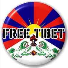 Free Tibet Flag 25Mm Pin Button Badge Lapel Pin