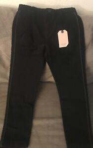 Zara Kids Boys Black Chinos Pants With Piping Size 10 Years Ebay