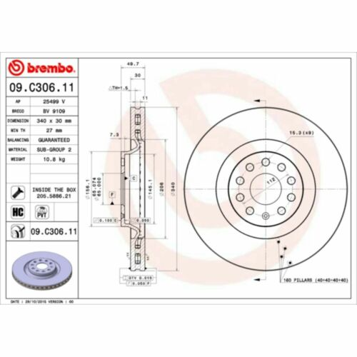Bremsscheibe COATED DISC LINE BREMBO 09.C306.11