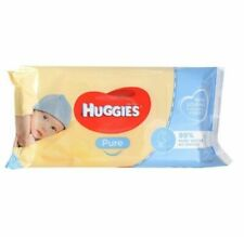 10 x Huggies Pure Baby Wipes Unscented PK56 (560 Wipes)