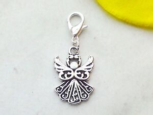 5 Charm Anhänger Antik Silber Engelsflügel für Halskette 6.9x4.7cm