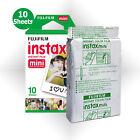 Fujifilm Instax Mini White Film 10 Photos - Fuji 8 8+ 9 50s Instant Camera SP-1
