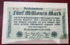 1923 GERMANY 5 MILLIONEN MARK