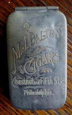 OLD M.J. DALTON CIGARS ADVERTISING MATCH SAFE - Philadelphia