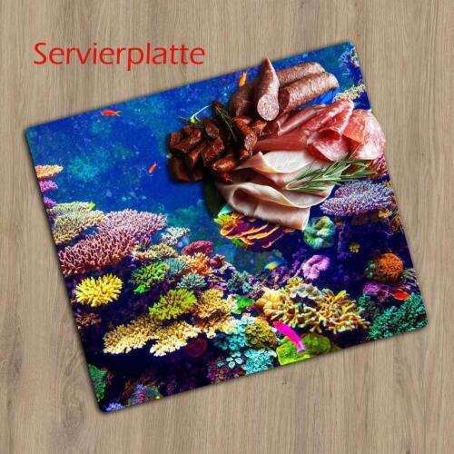 Herdabdeckplatte Ceran 1 teilig 60x52 Meer Bunt Abdeckung Glas Spritzschutz Deko