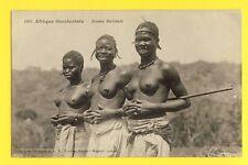 cpa AOF AFRICA AFRIQUE OCCIDENTALE Jeunes MALINKÉS Seins nus Girls Breast Nude