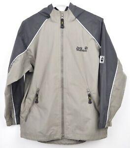 JACK-WOLFSKIN-Kids-Age-8-9-Coat-140-cm-Outside-Hooded-Hiking-Jacket-Boys-Girls