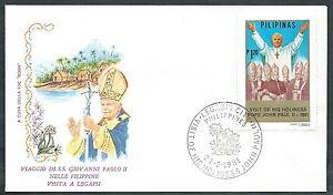 1981 Vaticano Viaggi Del Papa Filippine Legapsi - Rm1 Nous Prenons Les Clients Comme Nos Dieux