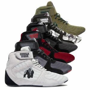 Gorilla Wear Shoes Perry High Tops Pro White Schuhe Fitness Workout Freizeit