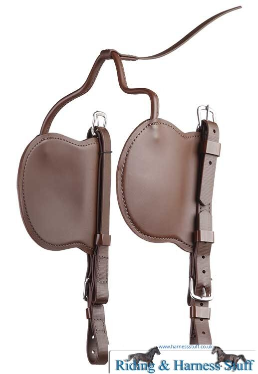 Zilco Carriage Driving Harness - Brun Blinkers & Cheeks