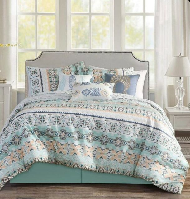Comforter Bedding Set Twin Size Bed in a Bag Native American Southwest 6 pieces
