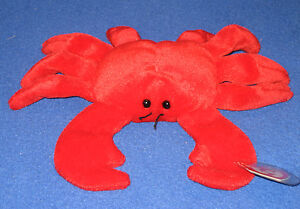 TY RED DIGGER the CRAB BEANIE BABY - NEAR PERFECT HANG TAG - SEE ... 8ed3ff8652a