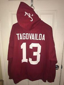 save off b1c63 96ee7 Details about Alabama Crimson Tide Tua Tagovailoa Jersey Style Hoodie Hoody  Sweatshirt