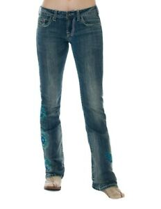 NWT COWGIRL TUFF barbed wire Golden Honey western JEANS Women 28 30 L more SIZES