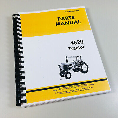 PARTS MANUAL FOR JOHN DEERE 4520 TRACTOR CATALOG ASSEMBLY EXPLODED VIEWS |  eBayeBay