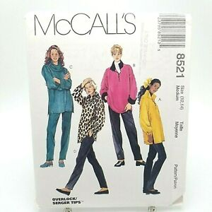 Misses-Loose-Fit-Tunic-Top-Pants-Lounge-Wear-Pattern-8521-McCalls-Size-12-14-Med
