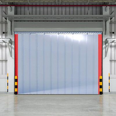 B 1,25m x H1,50m Lamellen PVC Streifen Vorhang 300x3mm