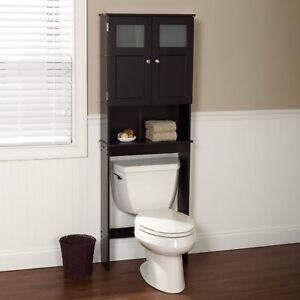 Details About Wood Bathroom Space Saver Cabinet Furniture Over Toilet Organizer Shelf Bath New