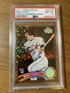 2011-TOPPS-MIKE-TROUT-DIAMOND-ANNIVERSARY-COGNAC-ROOKIE-CARD-RC-US175-PSA-8-NM