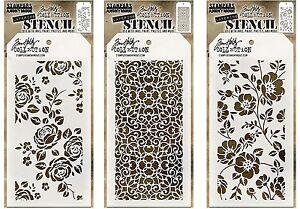 Tim-Holtz-Mini-Layering-Stencil-Template-Set-25-Flower-Stencils-Roses-Floral