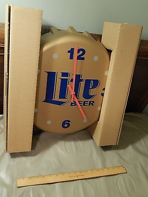Breweriana, Beer Miller Lite Brewing Co._milwaukee Collectibles Wisconsin_bottle Cap Wall Clock_lakeside Ltd High Quality And Low Overhead