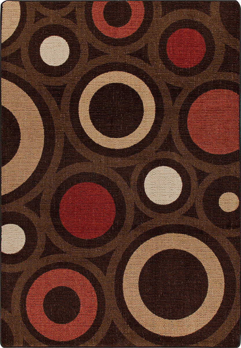 2x4 Milliken In Focus Chocolate Modern Retro Area Rug - Approx 2'8 x3'10