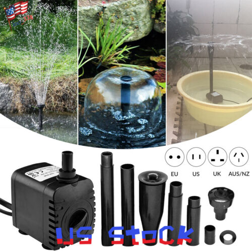 8w 600L//h Fish Tank Oxygen Pump Garden Water Aquariums Fountain Landscaping US