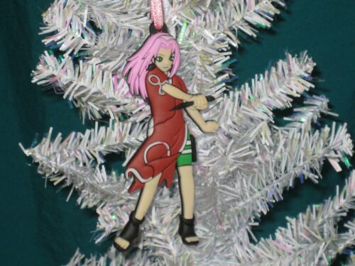 Sakura Flat Double Sided Rubber Anime Christmas Ornament *