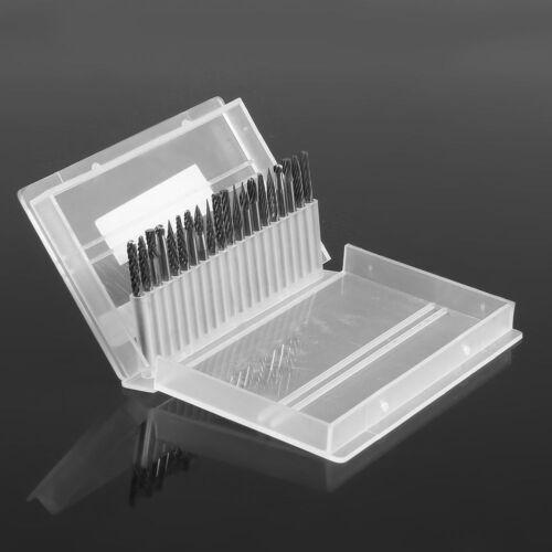 "1//8/"" 20 Pcs Tungsten Carbide Cutter Rotary Burr Set CNC Engraving Bit 3mm"