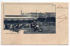 PORTUGAL LISBOA Lisbonne mercado do peixe carte nuage 1900