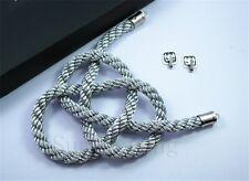 1Pcs Car Rearview Mirror Charms Good Luck Silver Kin Tsuna Rope Hang Vip Gift