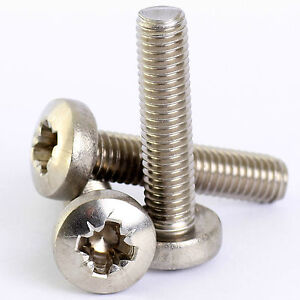 M4 Pan Head Pozidrive Machine Screws Made From A2 Stainless Steel