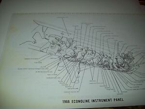 1966 Ford Econoline Wiring Wireing Diagram 11X17 oversized ...