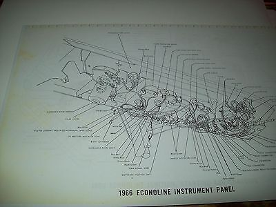 1966 Ford Econoline Wiring Wireing Diagram 11X17 oversized ...