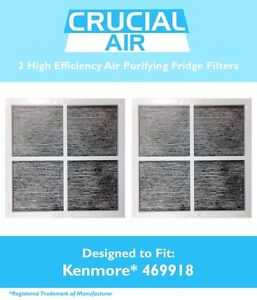 2 Repl Kenmore Elite 9918 Air Purifying Fridge Filters Part # 469918 04609918000