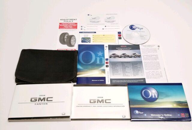 2008 GMC CANYON OWNERS MANUAL SLT SLE Z-71 V4 2.9L V5 3.7L ...