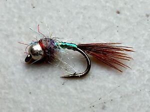 x 6 Fly Fishing Flies Adams Natural Fly Bass, Bream, Trout, Salmon
