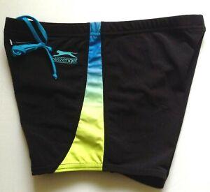 Slazenger-Hommes-Garcons-Natation-Trunks-Shorts-Noir-Couleur-panneaux-entierement-neuf-sans