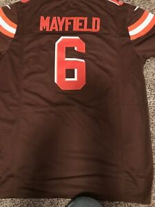 online store ccd2e 74bf7 Details about Baker Mayfield Browns #6 Jersey (Brown, White, Orange or Rush  Color)