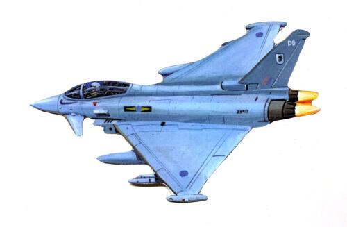 Hawker Typhoon Magnet TS15-JM Jumbo Size Hawker Plane