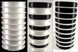 Lot-de-10-Bobines-Fil-de-Nylon-Elastique-0-5mm-10x-20-Metres-Couleurs-au-choix