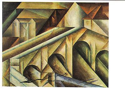 MüHsam Postkarte - Lyonel Feininger: Brücke Iii / Bridge Iii / Pont Iii Weich Und Leicht