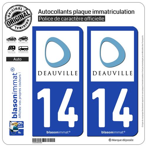 Creatief 2 Stickers De Plaque D'immatriculation Auto | 14 Deauville - Ville | 14800