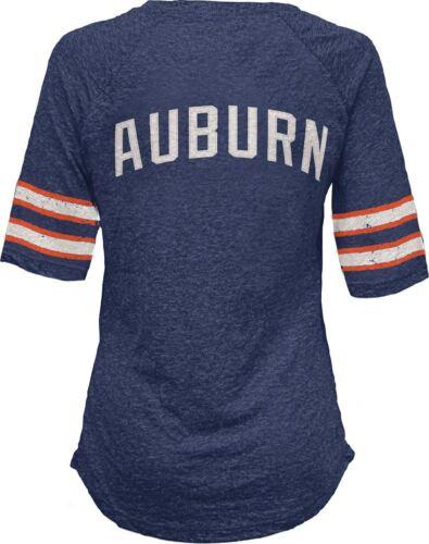Auburn Tigers T-Shirt Women/'s Navy Jada V-Neck T-Shirt