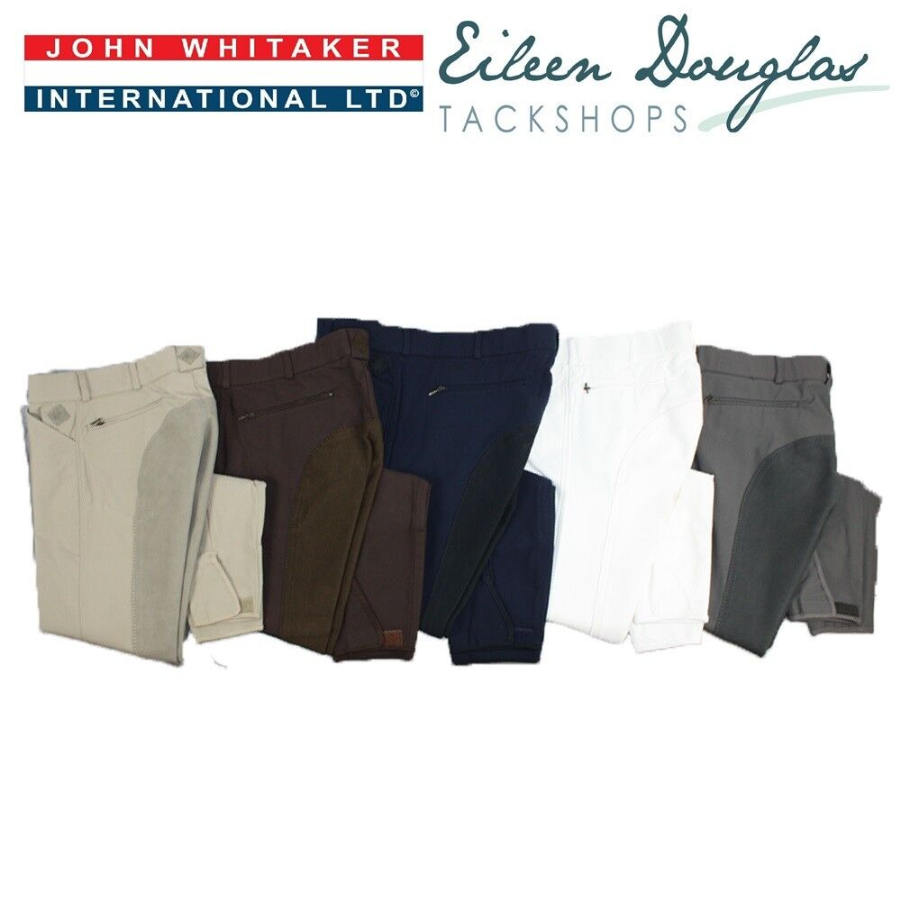 John Whitaker Mens Full Seat Breeches Gents Riding Trousers HALF PICE