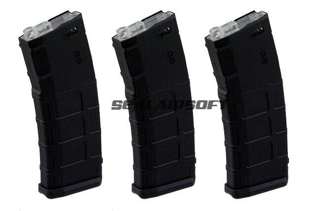 Airsoft Mag CYMA 3pcs 190rd Mid-Cap Magazine for M-Series Black