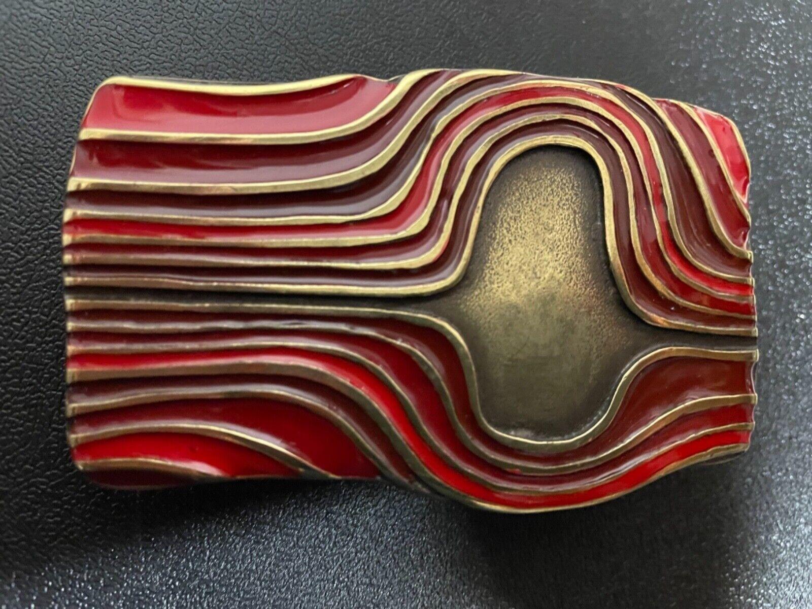 Italian made,women's Wearable Art belt buckle .Brass plaited with enamel detail.